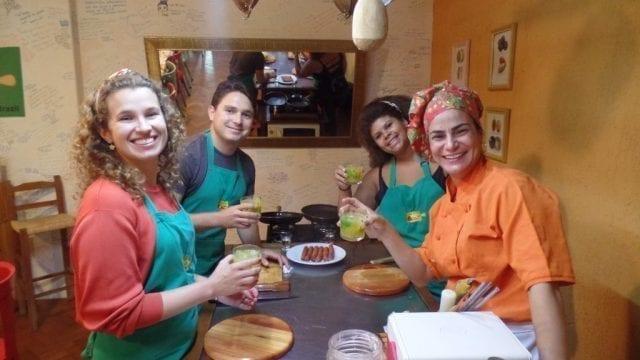 Cooking in Rio de Janeiro.