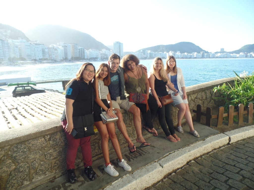 Copacabana and Ipanema. Students at Forte de Copacabana.