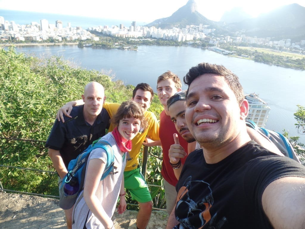 Selfie no parque das catacumbas.
