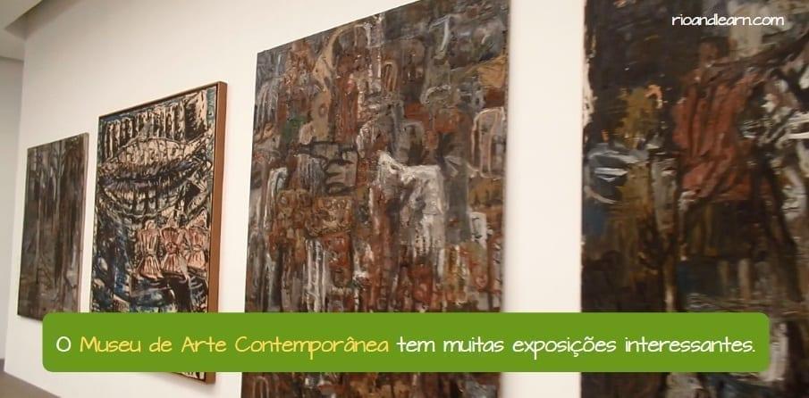 Oscar Niemeyer Museum in Niterói. O Museu de Arte Contemporânea tem muitas exposições interessantes.