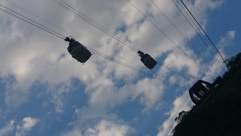 Teleférico del Pan de Azúcar, vista al cielo.