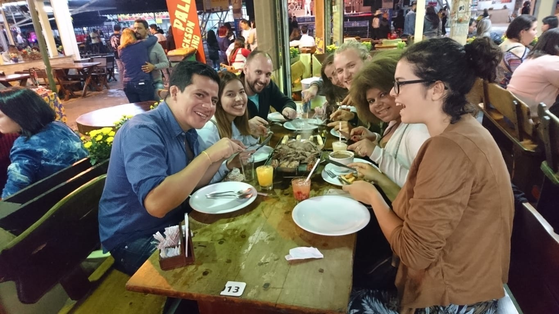 Dinner and Karaoke at Feira de São Cristóvão.