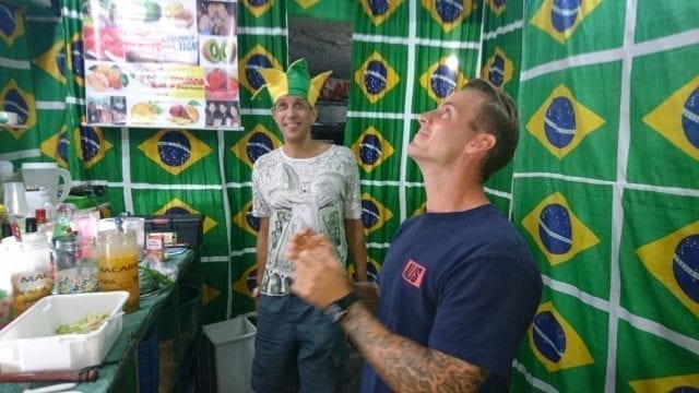 Caipilapa with Rei do Limão. Waiting for my precious caipirinha to comeback.
