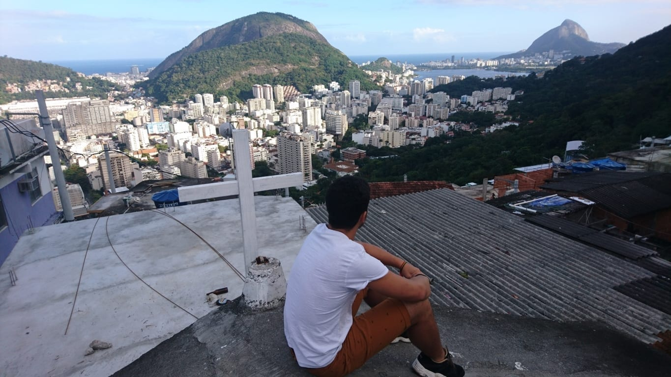 View from the top of Favela Santa Marta