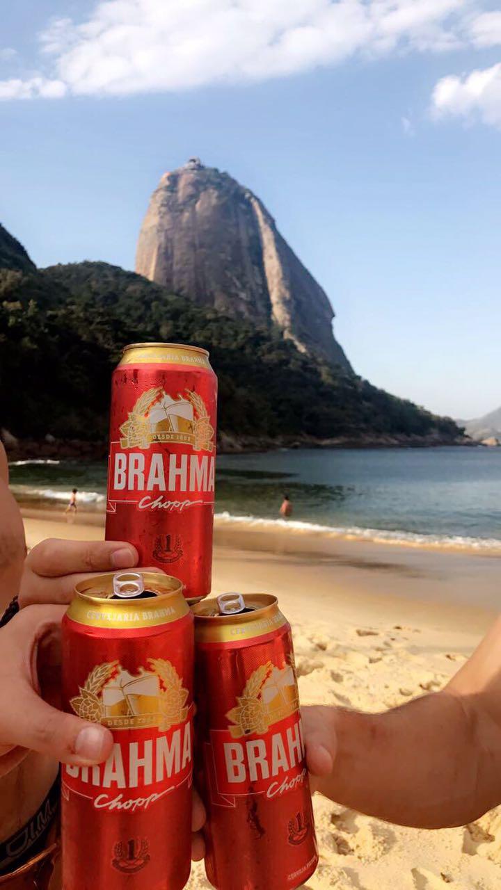 Brahma é a cerveja Brasileira mais famosa.