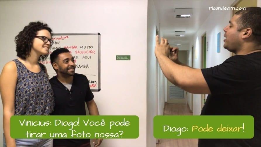 Ejemplo para entender que significa en portugués pode deixar