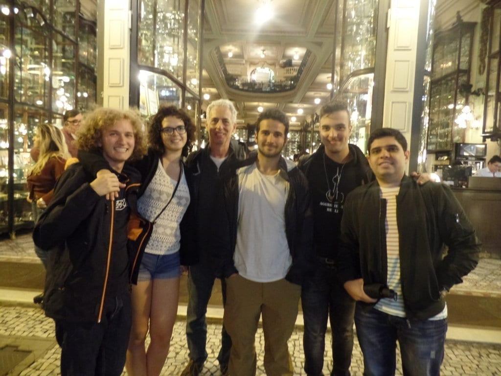 Dulce visita en portugués en la Confitería Colombo.