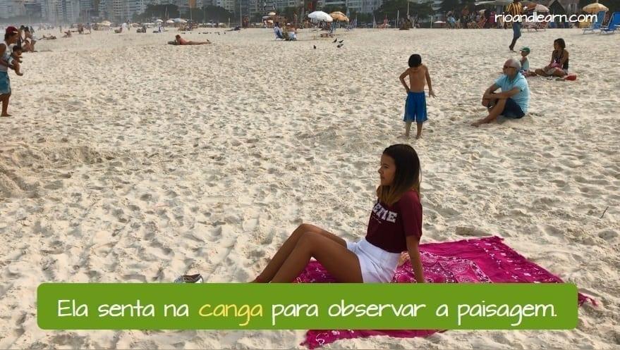 Que es una canga en portugués. Te puedes sentar encima y observar el paisaje en la playa.