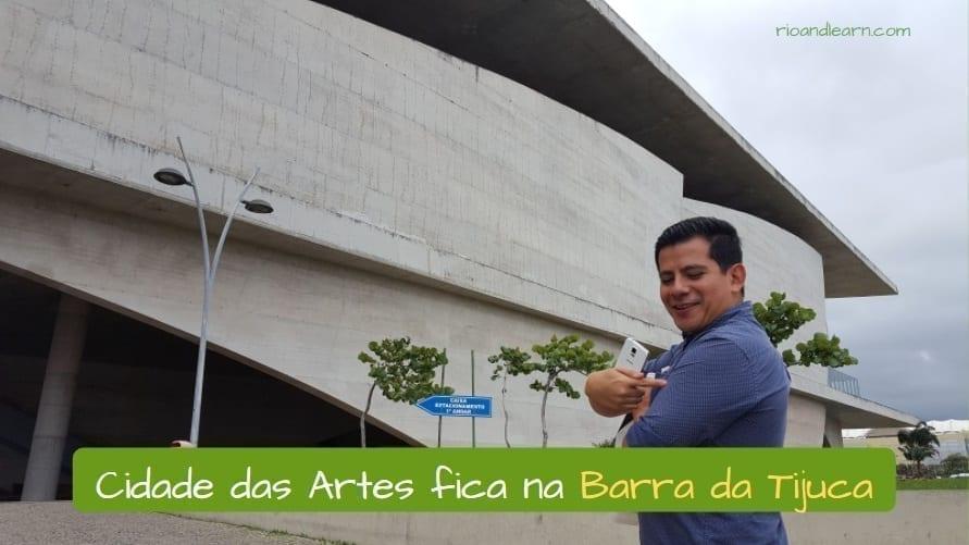Zona Oeste do Rio de Janeiro. A Cidade das Artes fica na Barra da Tijuca.