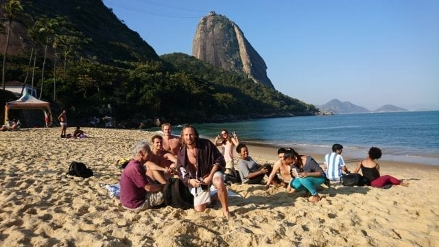Beautiful Urca bluesky in Praia Vermelha.