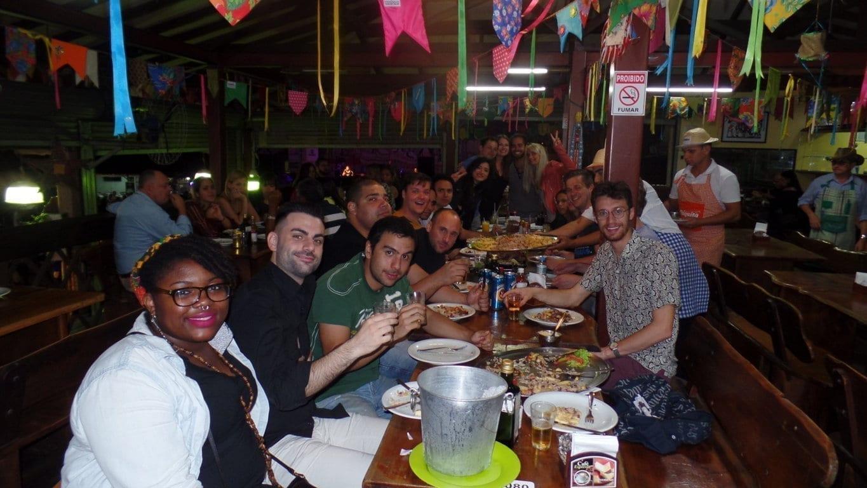 Brazilian Northeastern dinner at Feira de São Cristóvão centro de tradições nordestinas