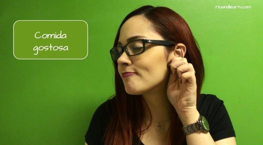 Brazilian Hand Gestures. Comida gostosa
