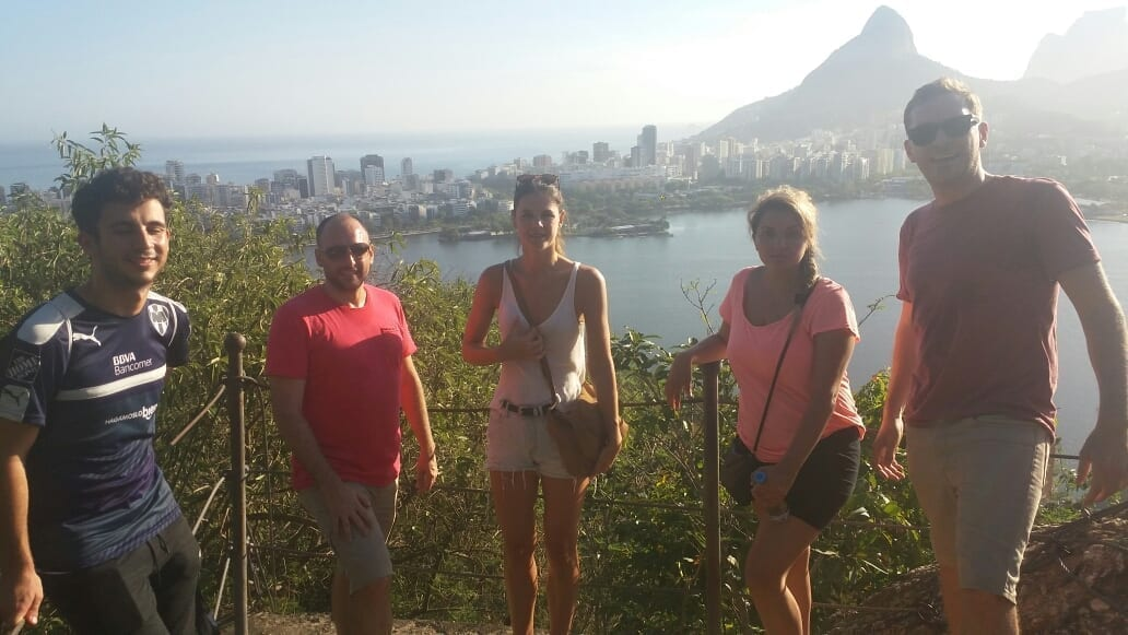 Enjoying the view of Lagoa from one of the viewpoints