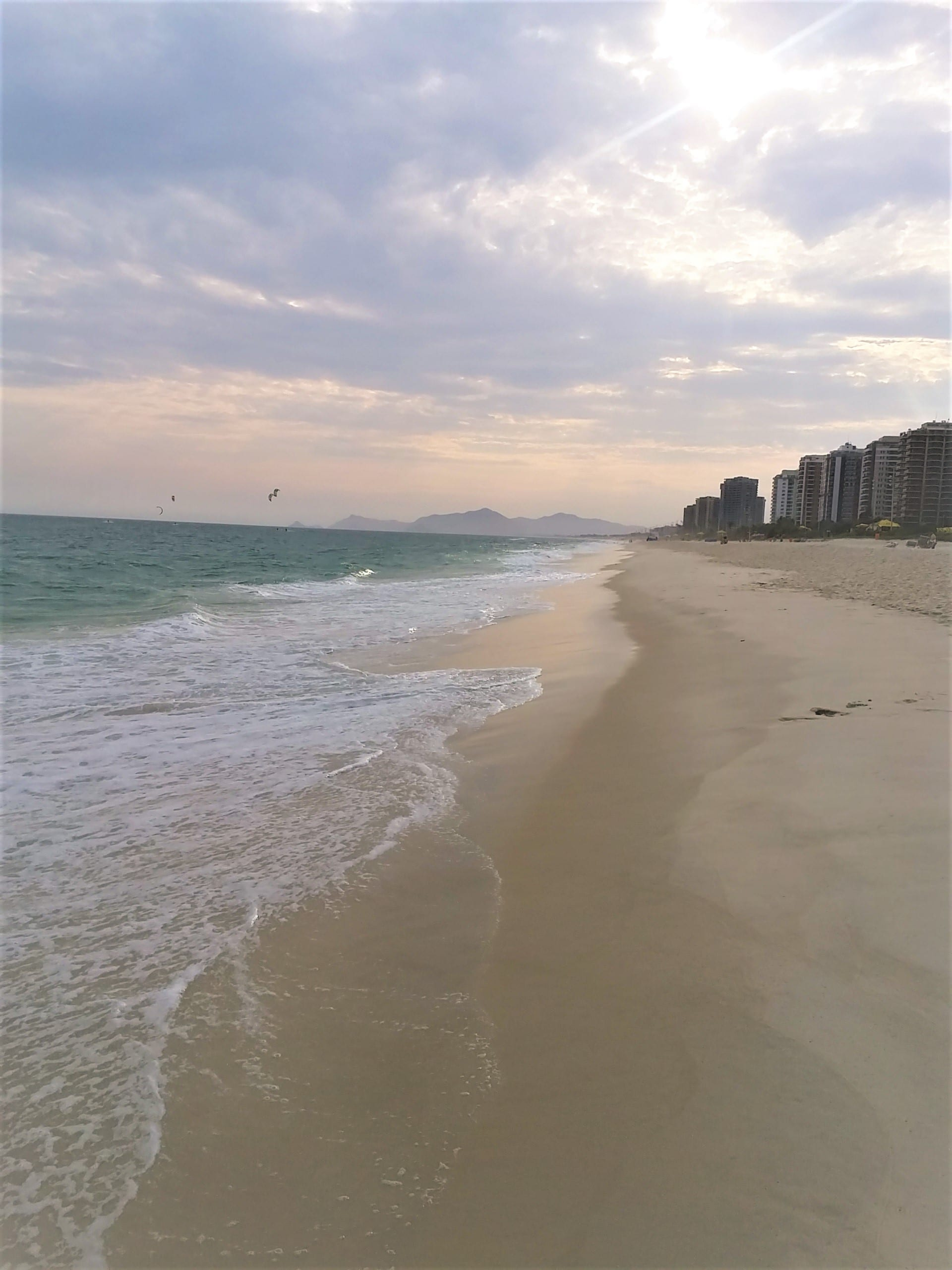 Barra da Tijuca is famous for its long beach