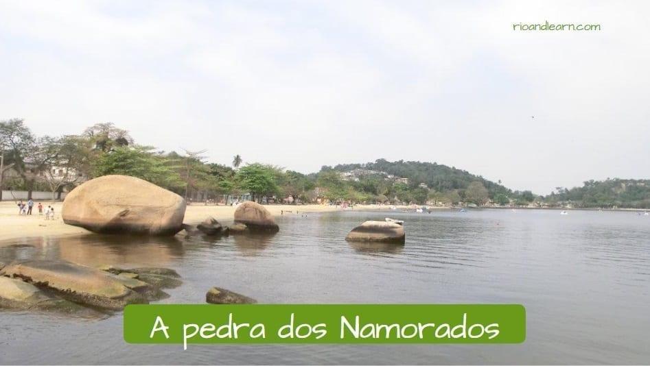 Isla de Paquetá. A pedra dos Namorados