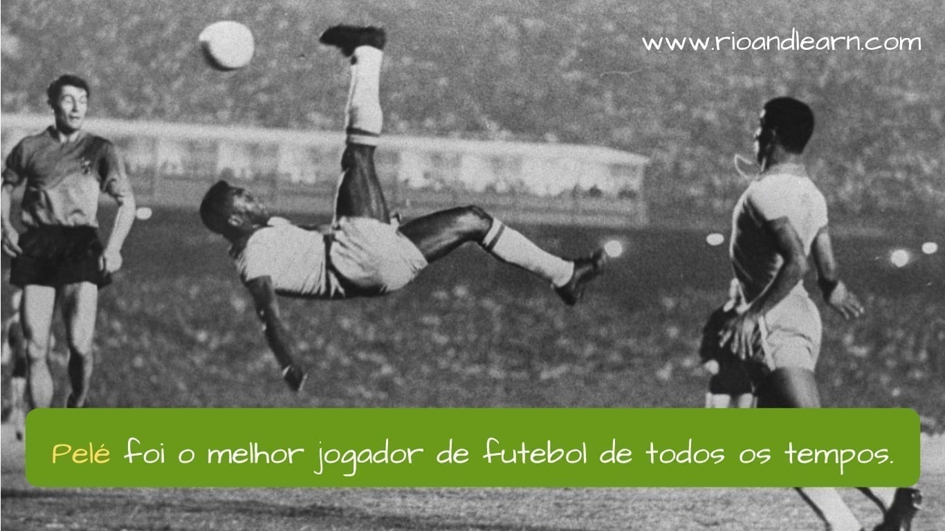 Jogador Futebol Pelé. Pelé foi o melhor jogador de futebol de todos os tempos.