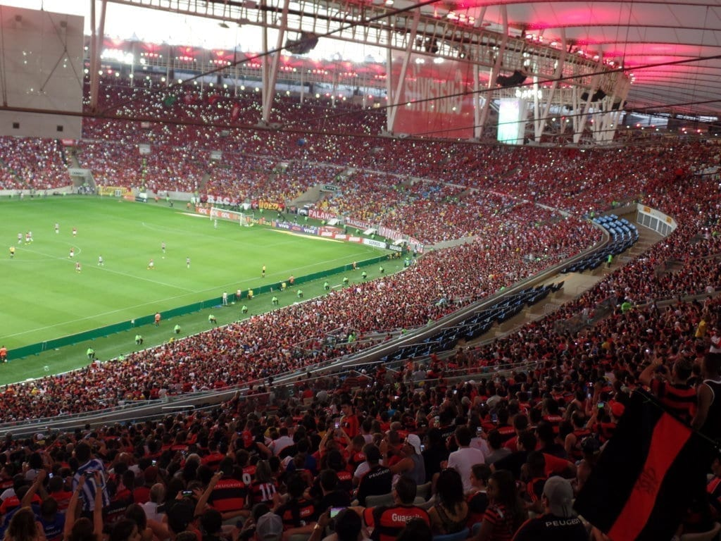 You'll feel the energy of the crowd! Maracanã Stadium during Flamengo and Fluminense match. Football at Maracanã