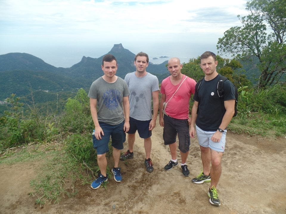 We hiked upwards Tijuca Peak.