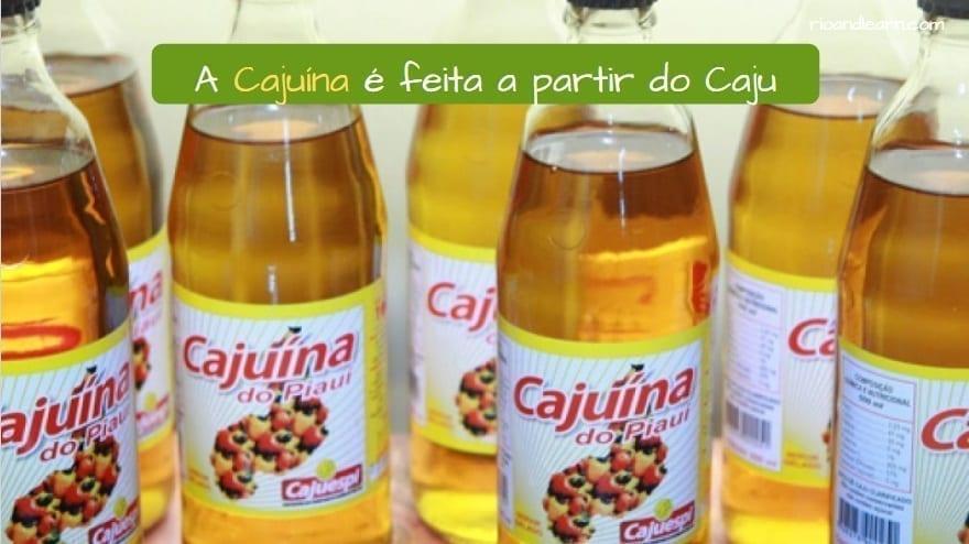 Bebidas brasileñas: La cajuína es una bebida hecha a partir del caju o anacardo.