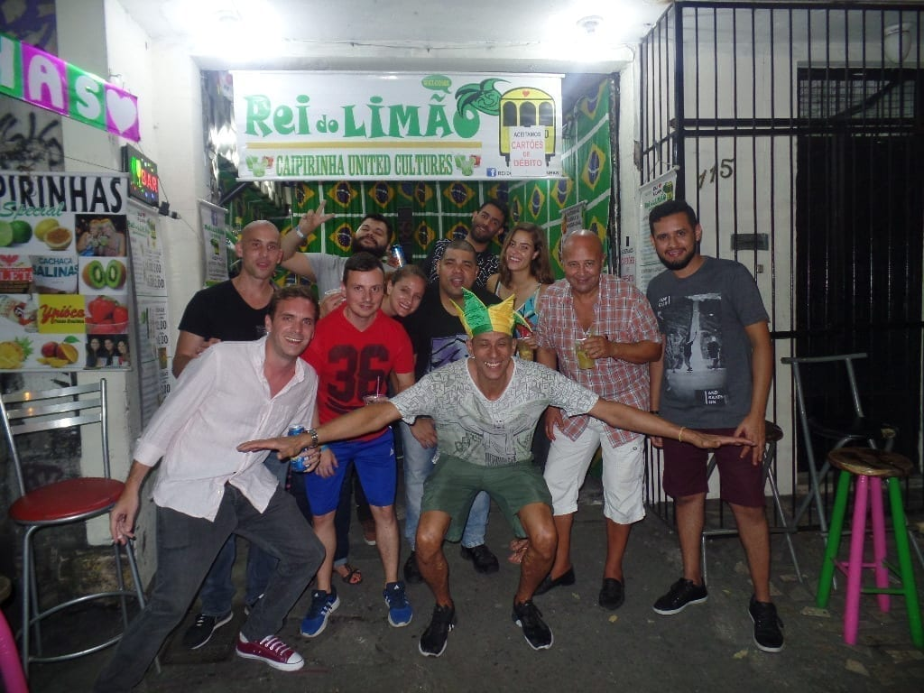 The buzzing nightlife of Lapa asks for caipirinhas.
