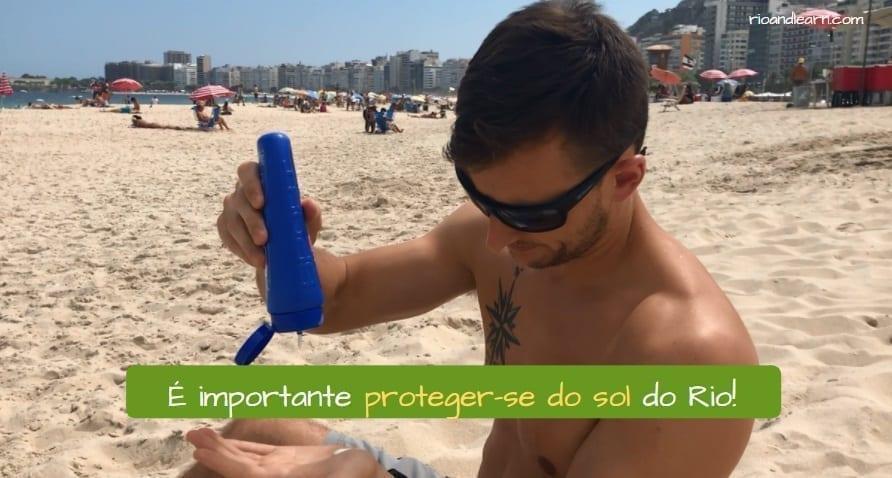 Rio de Janeiro security tips. É importante proteger-se do sol do Rio!