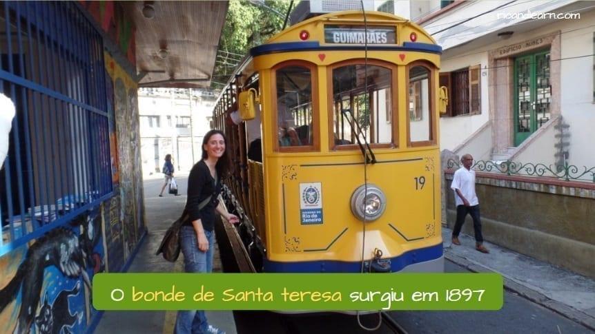 Santa Teresa tram. O bonde de Santa Teresa surgiu em 1987.