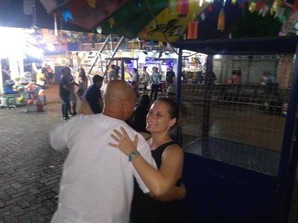 Una noche con forró en la Feria de San Cristóbal.