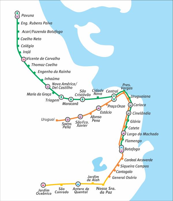 Subway Map in Rio de Janeiro