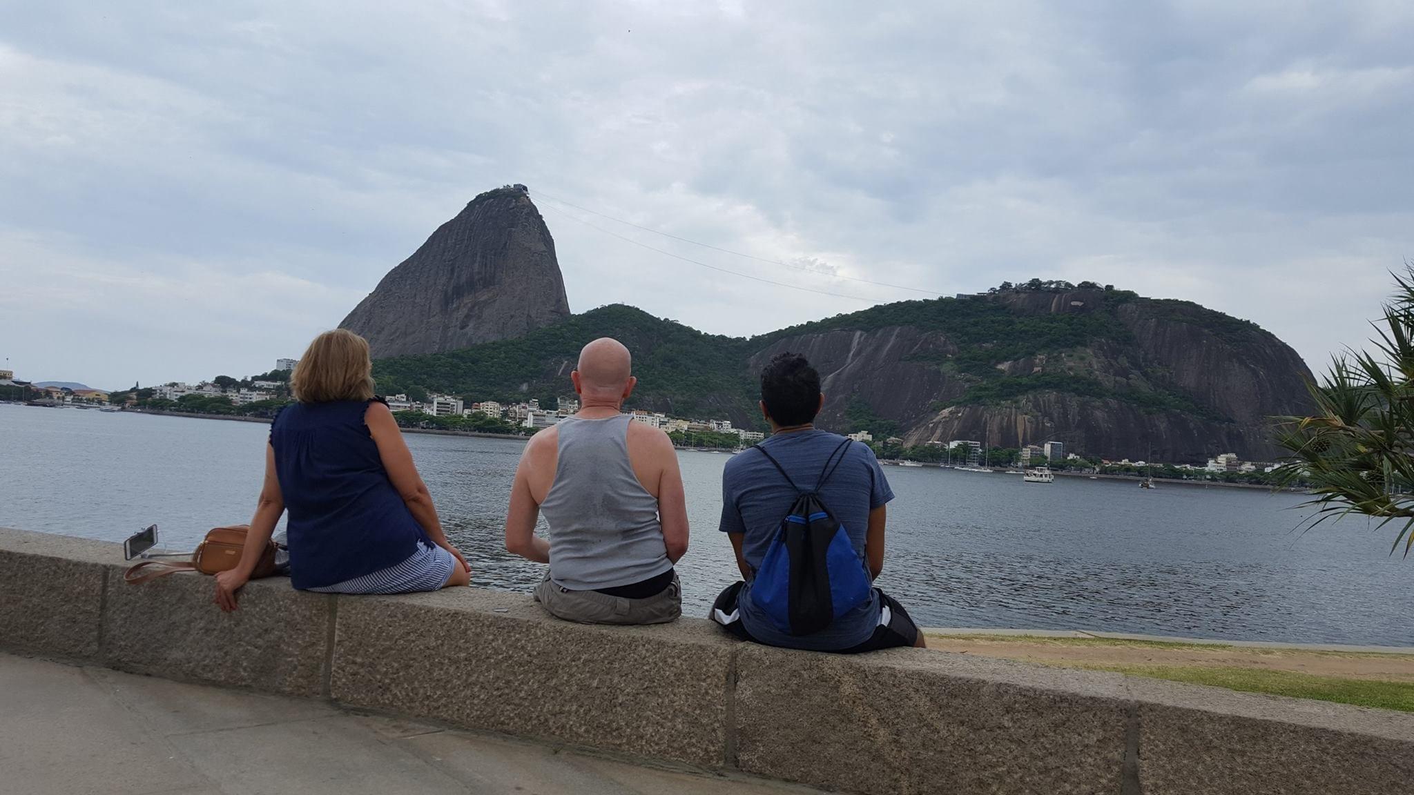 Aprecie a vista! Aprecie a vida! Pão de Açúcar view from Botafogo beach.