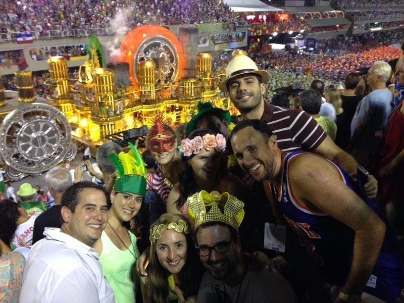 Rio Carnival Tickets. Foreign people visiting Sambódromo during Carnival.