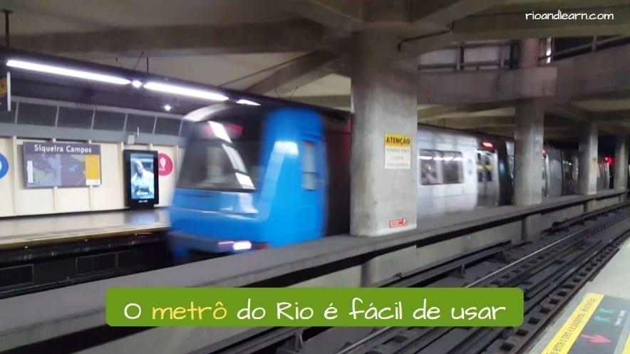 Subway in Rio de Janeiro. O Metrô do Rio é fácil de usar.