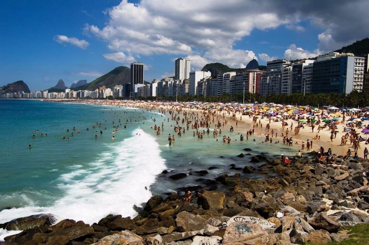 Vista de la playa de Ipanema en Río de Janeiro.