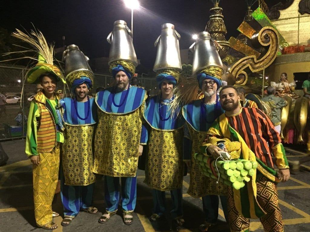 Antes de comenzar el desfile de campeonas de Río de Janeiro para el Carnaval.