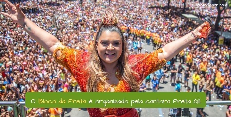 Best Blocos in Rio. O Bloco da Preta é organizado pela cantora Preta Gil.
