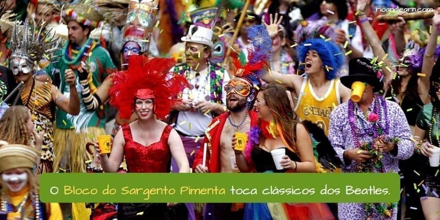 Best Blocos in Rio. O Sargento Pimenta toca clássicos dos Beatles.