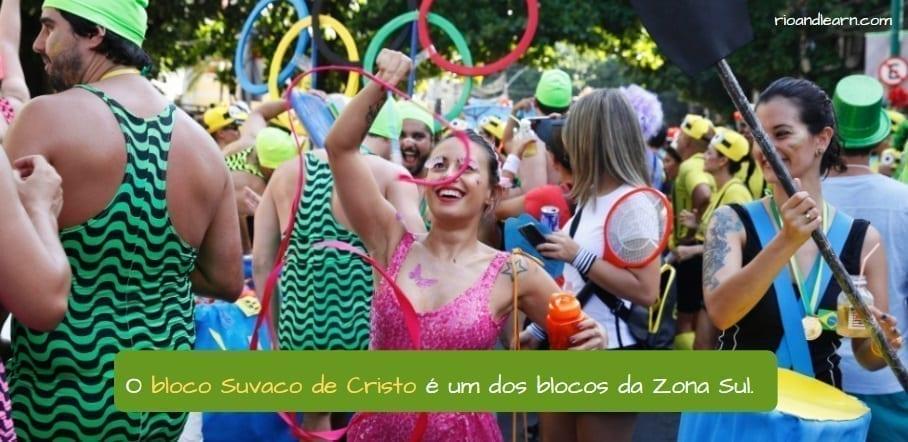 Rio street carnival. O Suvaco de Cristo é um dos blocos da Zona Sul.