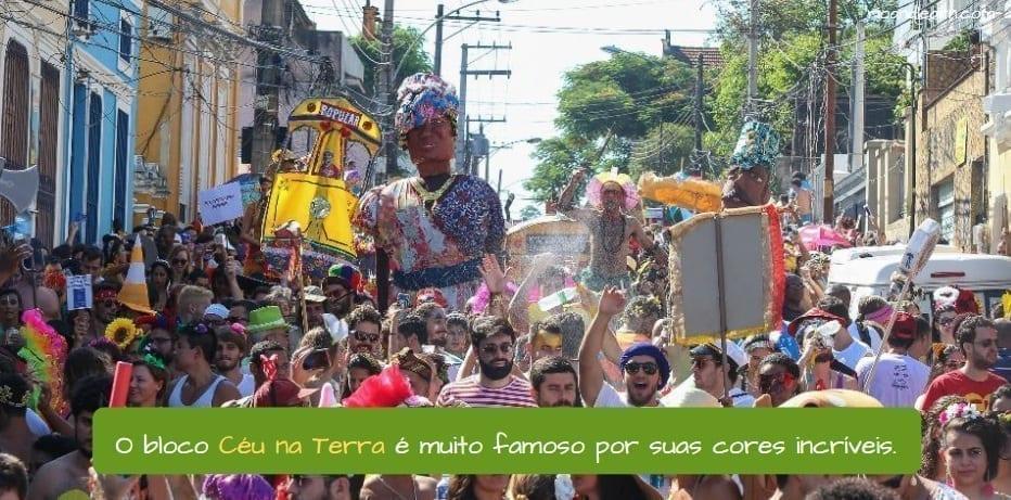 Best Blocos in Rio. O bloco Céu na Terra é famoso por suas cores incríveis.