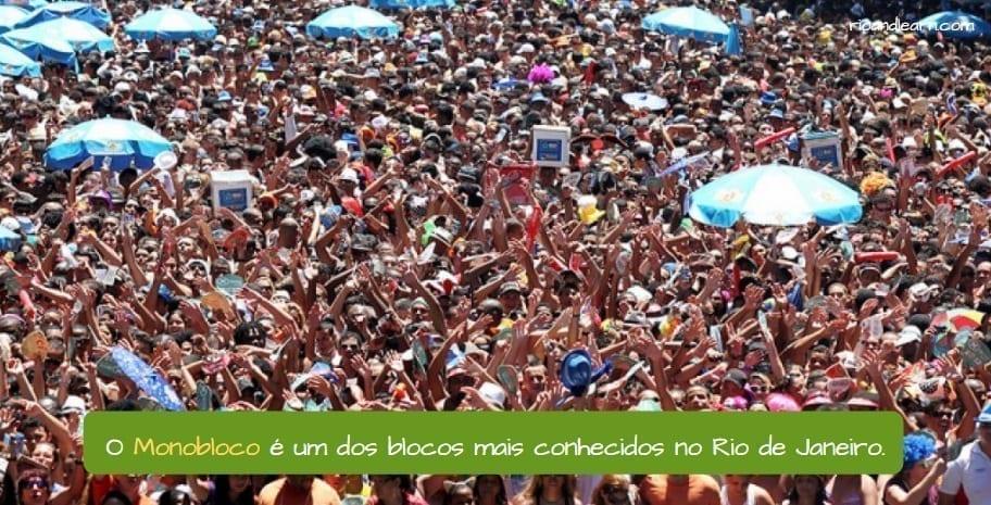 Rio street Carnival. O Monobloco é um dos blocos mais conhecidos do Rio de Janeiro.