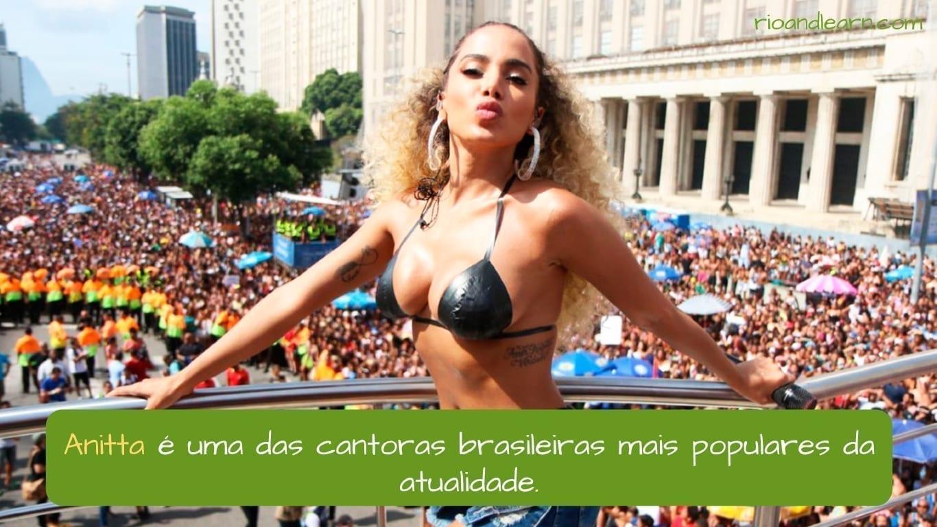 Anitta es una de las cantantes más populares en la actualidad en Brasil.