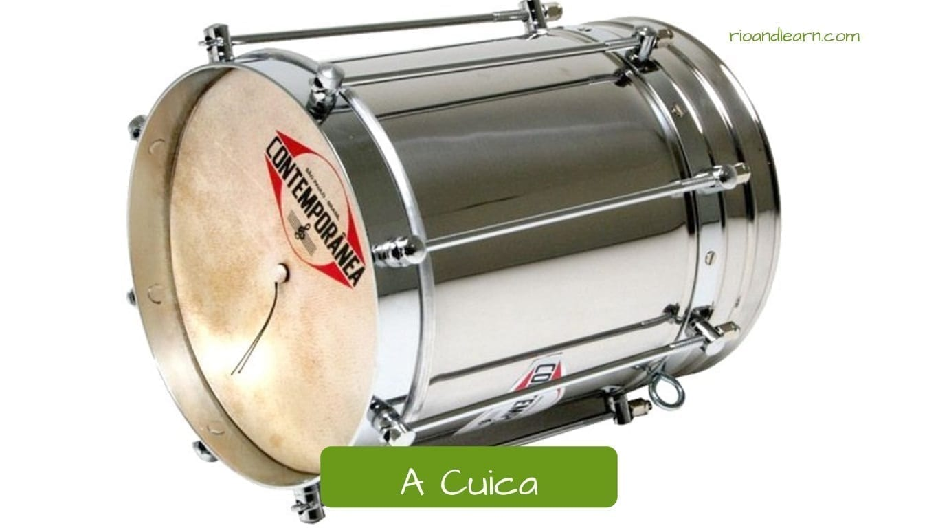 Brazilian musical Instruments: A cuica.