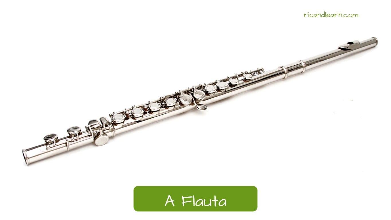 Flauta en portugués: A Flauta.