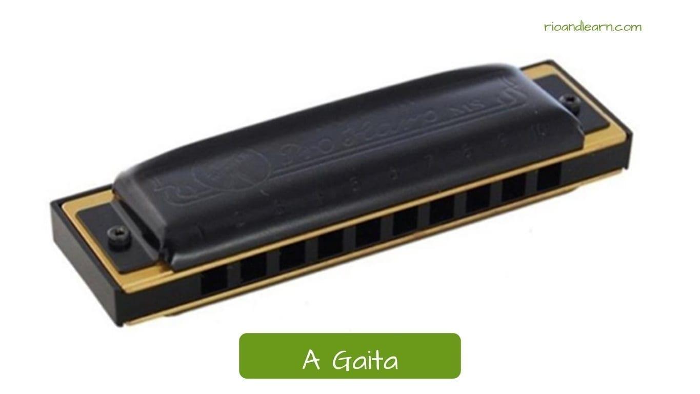 La armónica en portugués: A gaita.