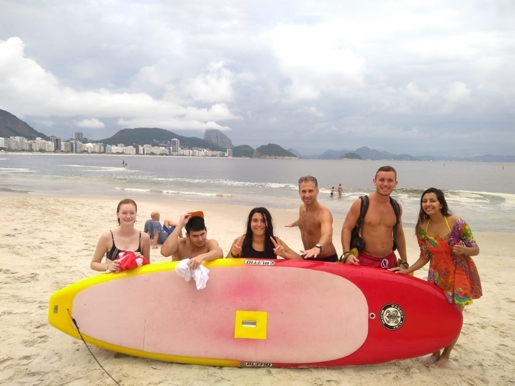 Foreigners at Copacabana.