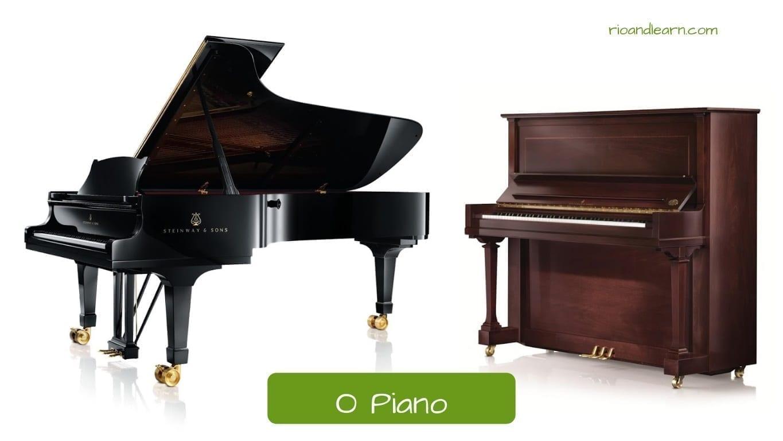 Piano en portugués: O Piano