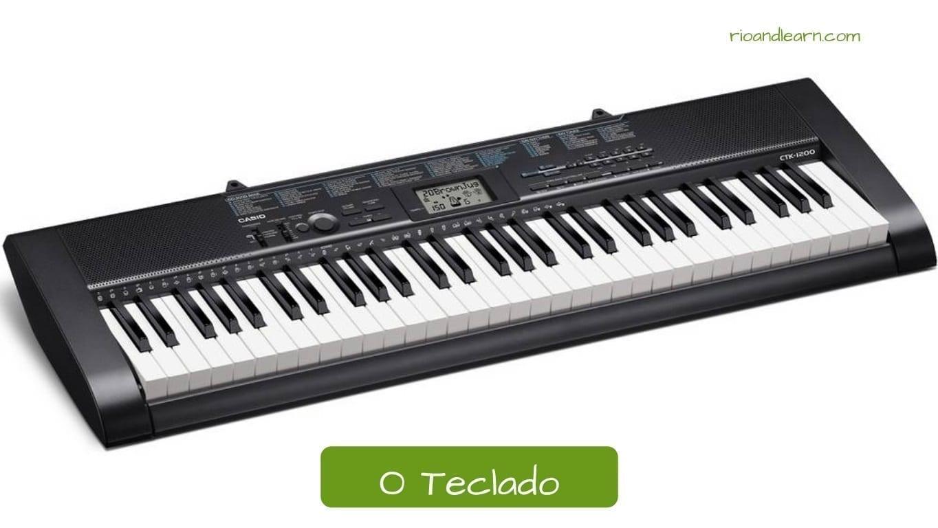 Teclado en portugués: O teclado.