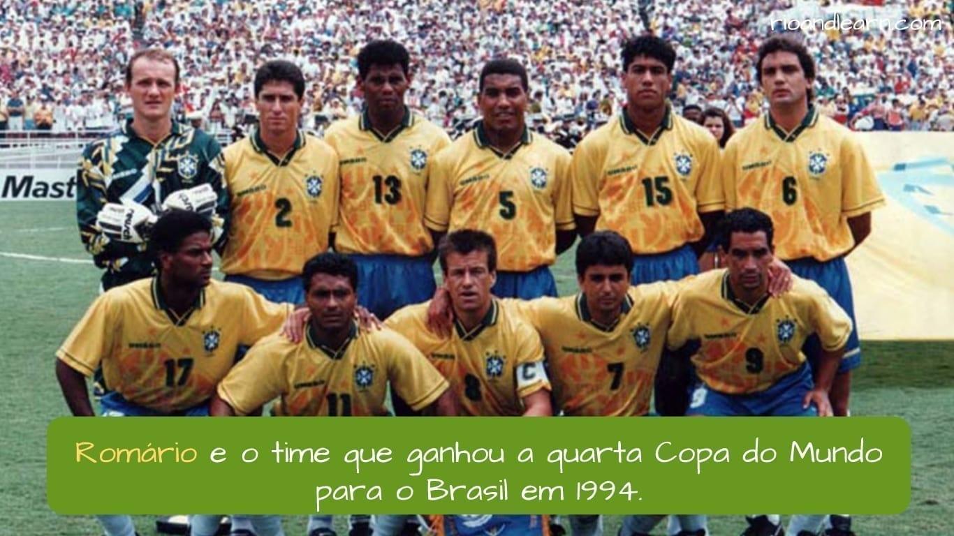 Romário Footballer. Romário e o time que ganhou a quarta Copa do Mundo para o Brasil em 1994.