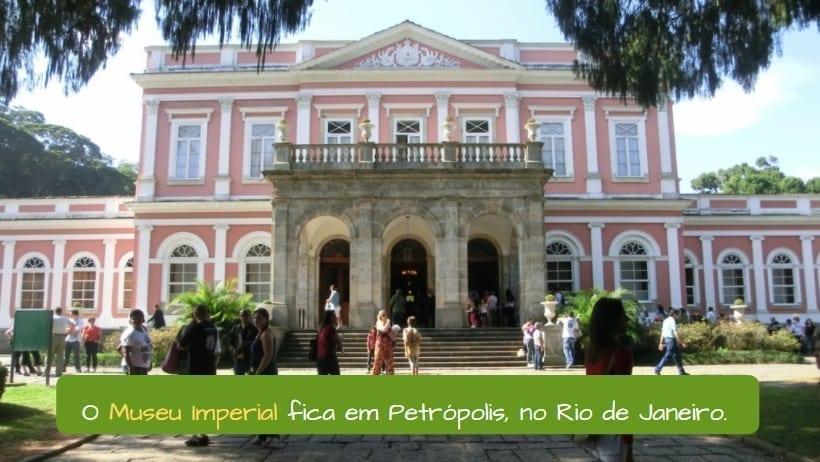 Imperial Museum of Brazil. O Museu Imperial fica em Petrópolis, no Rio de Janeiro.