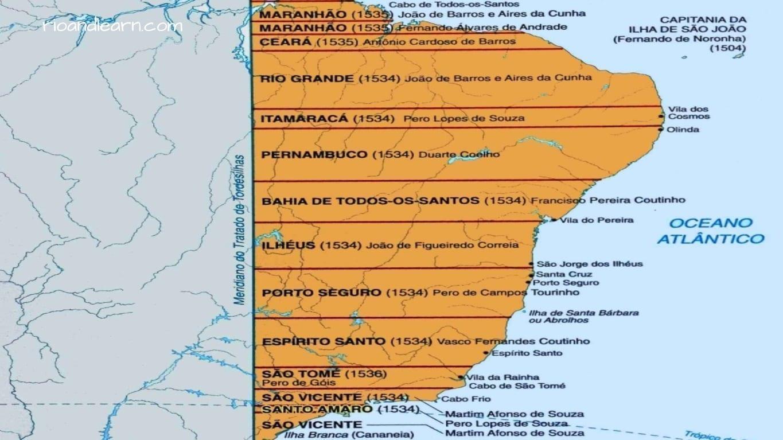 Captaincies of Brazil. Capitania do Maranhão, Capitania do Ceará, Capitania do Rio Grande, Capitania de Itamaracá, Capitania de Pernambuco, Capitania da Baía de Todos os Santos, Capitania de Ilhéus, Capitania de Porto Seguro, Capitania do Espírito Santo, Capitania de São Tomé, Capitania de São Vicente, Capitania de Santo Amaro, Capitania de Santana.