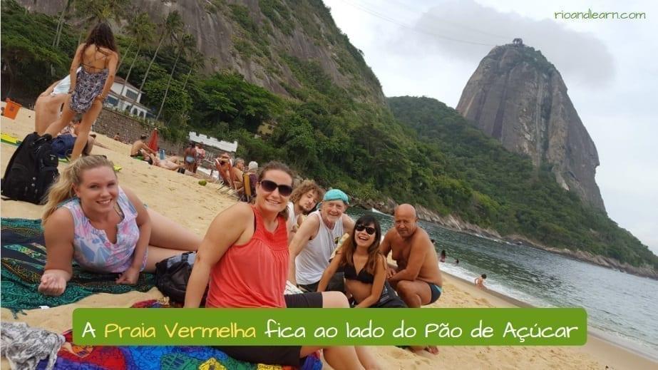 Vermelha Beach in Rio de Janeiro. A Praia Vermelha fica ao lado do Pão de Açúcar
