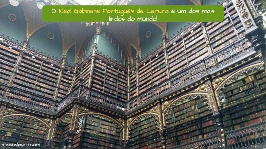 Royal Portuguese library in Rio de Janeiro. O Real Gabinete Português de Leitura é um dos mais lindos do mundo!